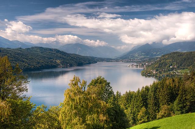 Millstättersee lake Millstatt Austria